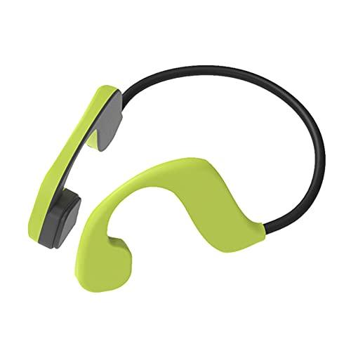 XJPB Auriculares de conducción ósea Auriculares inalámbricos para Auriculares Deportivos Auriculares con micrófonos con micrófonos 32g Llamadas Manos Libres para Correr Ciclismo de Ciclismo,Verde