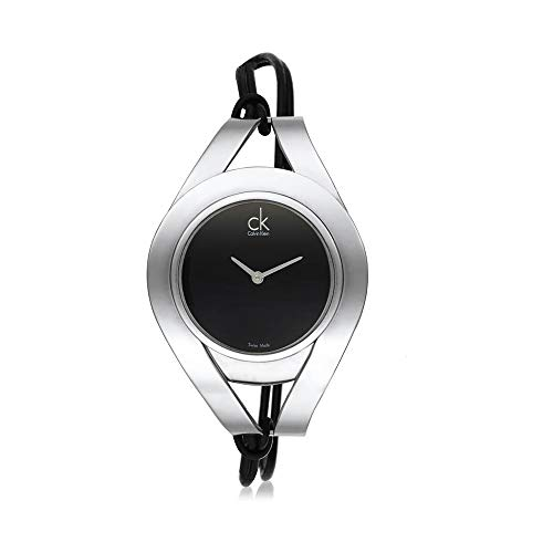 Calvin Klein k1B23102 K1B23102 - Reloj para Mujeres, Correa de Cuero Color Negro
