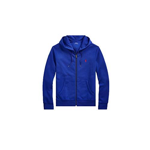 Ralph Lauren Herren Sweatjacke Blau Logo Rot Gr. L, blau