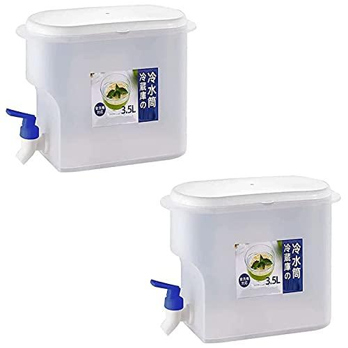 1/2 jarra de agua de 3500 ml con grifo de zumo de limón, refrigeradores para el hogar, hervidores fríos, jarra de jugo con grifo, para zumo de frutas, té de hielo, color azul