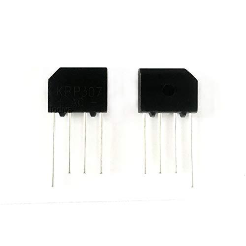 Todiys New 30Pcs for KBP307 KBP307-BP KBP307G 700V 3A DIP-4 Flat-Bridge Silicon Bridge Rectifiers KBP307G-BP