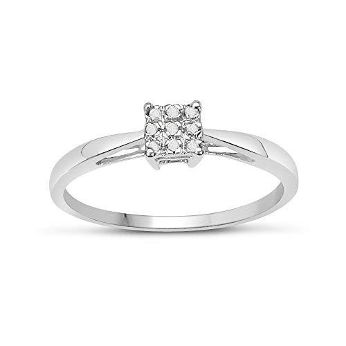 De Diamond Ring-collectie : Mooie Diamond Solitaire Look Verlovingsring in Witgoud, Eeuwigheidsring, Moederdag, Jubileum, Cadeau, Ringgrootte 9,10,11,12,13,15,16,17,19,24,20,15,6,21,22