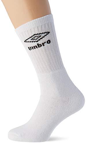Umbro Herren T606 Paar Socken in Weiß, Pack De 10, 39/42