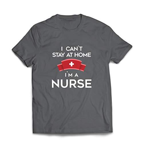 lepni.me Camisetas Hombre No Puedo quedarme En casa Soy una Enfermera Frontliners Regalo de...
