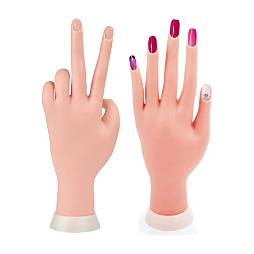Nail Trainning Hand Flexible Soft Practice Plastic Mannequin Hand Nail Art Trainer Manicure Practice Hand Tool