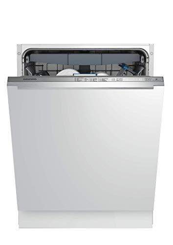 GRUNDIG Edition 75 VI E- Vollintegrierter Geschirrspüler / 60 cm/Einbau/ 8 Programme/Turbotrocknung, silber