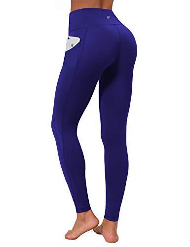 "BUBBLELIME 25""/26""/27""/28"" Inseam 3 Styles Out Pockets High Waist Yoga Pants Women Cross Pockets Pants_Navy L_26"" Inseam"
