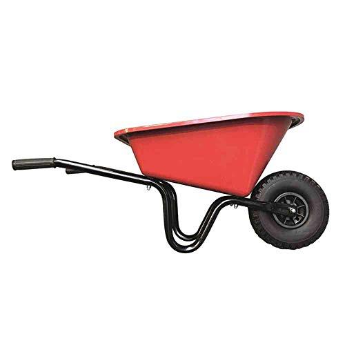 Kinderschubkarre 20 L rot montiert, mit PU-Rad