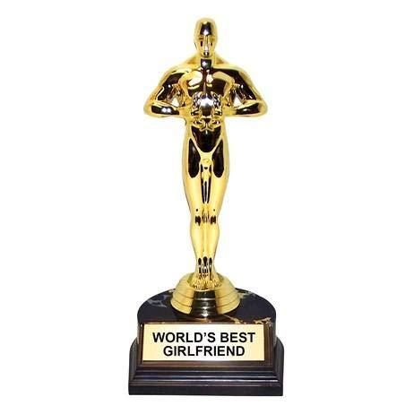 A.K. AllYourNeedz. Worlds Best Girlfriend Gold-Tone Statuette Trophy