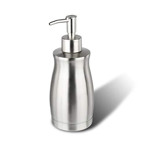 ARKTEK Seifenspender Edelstahl- Rost und auslaufsicherer Pumpspender, Spülbecken und Badpumpe für Flüssigkeiten (400 ml)