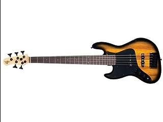 $977 » Custom Collection Element 5 Zebraburst 5-String Electric Bass Guitar