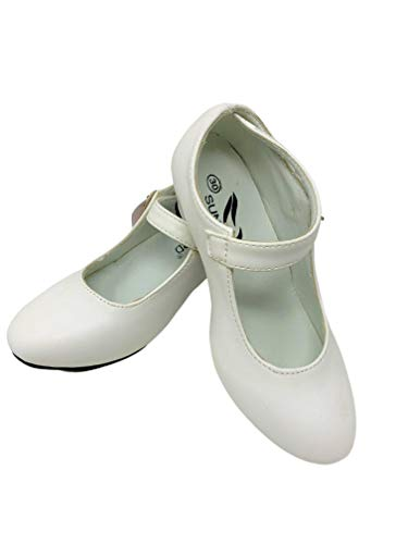 Zapato Flamenco Baile sevillanas niña,Blanco 32