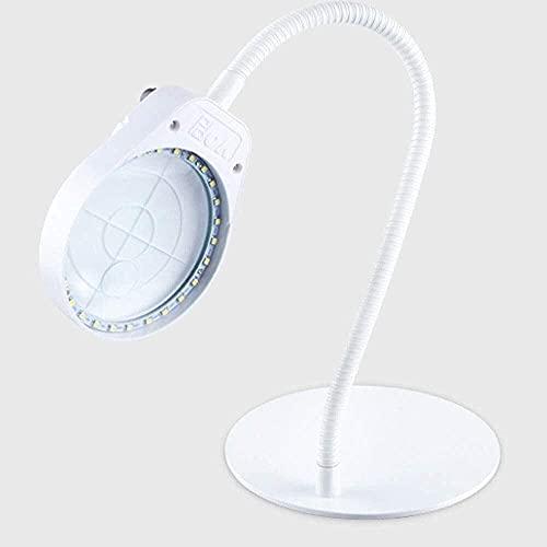 Lupa Lupa de Escritorio 10 Veces con Luces HD 20 Veces Hombre Mayor de niños Reparación de Lectura Reloj de teléfono móvil Placa de Circuito de Soldadura electrónica Lupa Luces LED Tallado de Belleza
