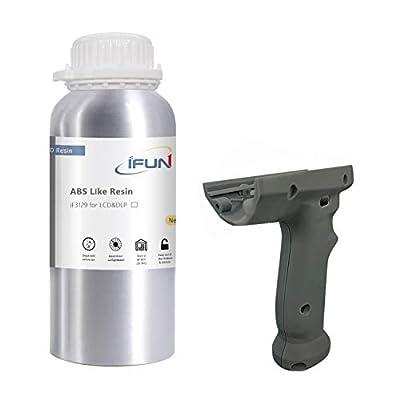 IFUN ABS Like Resin 3D 405nm LCD DLP Printer High Impact High Tough Strength HiTemp Rapid SLA UV 3D Printing Liquid Photopolymer Grey 500ml