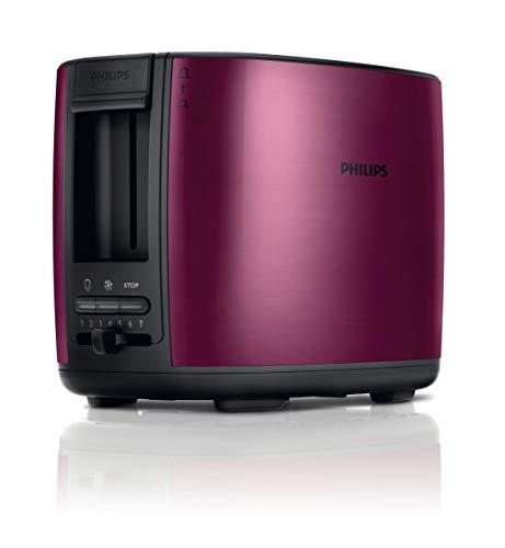 Philips HD2628/00 950W Metall-Toaster, Doppelschlitz Burgund