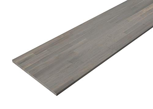 Interbuild Küchen-Arbeitsplatten aus Akazienholz, 2200 x 635 x 26 mm, Duskgrau, 1 Stück