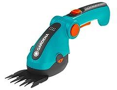 Gardena Sladdlösa Grässaxar ComfortCut Li: Lawn Edge Scissors med 8 cm Klippbredd, Komforthandtag, Knivbyte utan verktyg (9856-20)