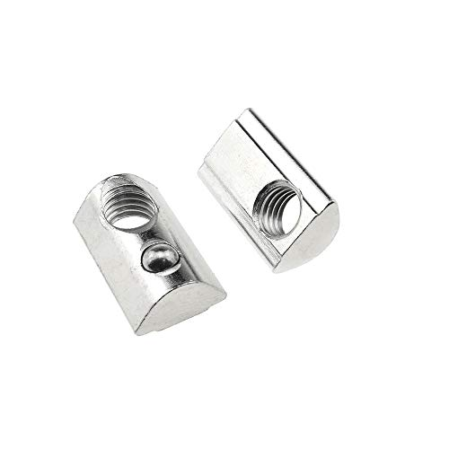 Binzzo 4040 Series M8 T Slot Nuts Roll-in Spring Ball Loaded Elastic Nuts 12 Pack Carbon Steel for 4040 Series Aluminum Extrusion Profile Rail with 8mm Slot for 3D Printer