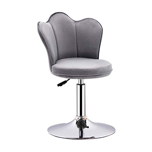 Game Chair Height Adjustable Bar Stools 360°Rotary Soft Padded Chairs with Backrest with Footrest for Bar Counter -45168K2P8S (Color : Gray, Size : 38.5 * 114CM)