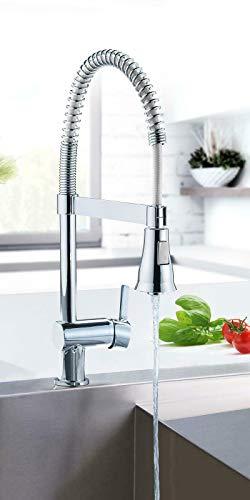 Einhebel Spültischarmatur Wasserhahn Küchenarmatur mit Spiralfeder Einhebelmischer Armatur