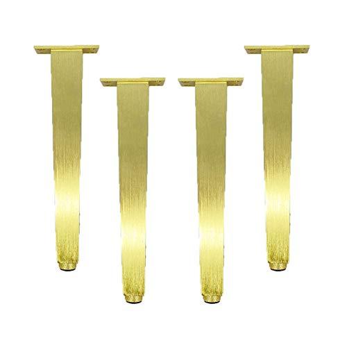 4 Piezas De Patas Ajustables para Muebles, Patas Doradas para Muebles, Patas De Soporte De Metal De Aleación De Aluminio, Patas De Gabinete, Utilizadas En El Gabinete del Sofá, Tocador, Zapatero (20