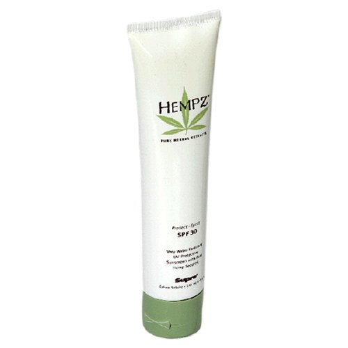 Hempz Supre Sunscreen with Pure Hemp Seed Oil, Protect - Sport, SPF 30, 5 fl oz (145 ml)
