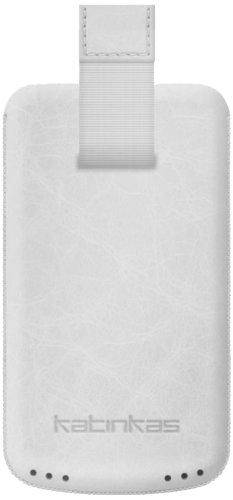 Katinkas Premium Custodia in Pelle per Nokia C7 Creased - White