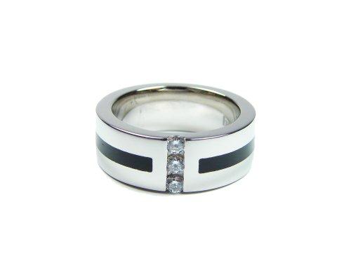 Bruno Banani 925/-Silber Ring platiniert Weite 64 42/02790