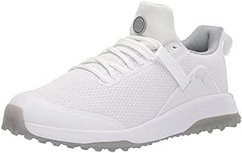 PUMA Men's Fusion Evo Golf Shoe, White-Quarry, 9.5