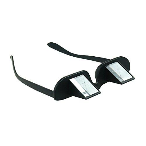 Asnlove Lazy Glasses, Brille Winkelbrille Lazy Readers 90 Grad HD Horizontale Brille Brechung-Brille Prismen-Brille, Schwarz