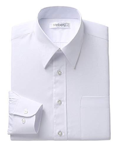 リトルアイランド メンズ ワイシャツ (白無地/L) メンズシャツ 長袖 祭事 ビジネス