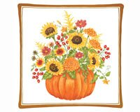 Alice's Cottage AC12452 Pumpkin Bouquet Spiced Hot Pad