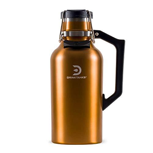 DrinkTanks 64 oz Vacuum Insulated Stainless Steel Beer Growler
