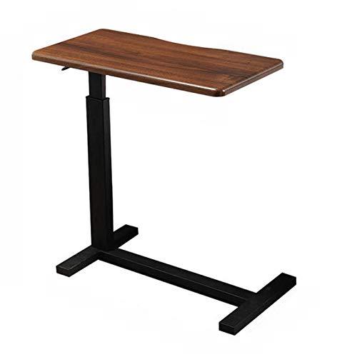 Mesita de noche con ruedas, mesa para ordenador portátil, altura ajustable de 67 a 91 cm, mesita de noche portátil de 80 x 40 cm