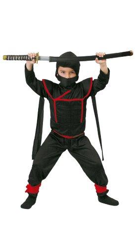 Costume Ninja Shinobi Samurai . La confezione comprende:FASCE, VESTITO con CAPPUCCIO e CINTURA. Sono esclusi gli accessori non menzionati.Abito,Travestimento,Carnevale,Comico,Halloween,cosplayTaglia: 10-12 anni ALTEZZA 142-148 CM