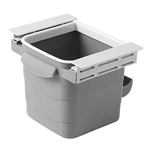 FORUU Hidden Retractable Trash Can,Office Desk Adhesive Dustbin Garbage Waste Bin,Portable Household Trash Can,Debris Sorting Trash,Waste Basket,Small Trash Can,Best for Home Office Kitchen