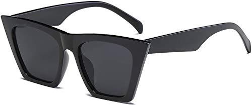 JFAN Gafas de Sol Cuadradas Ojo de Gato Retro Para Mujeres Hombres Protección UV400