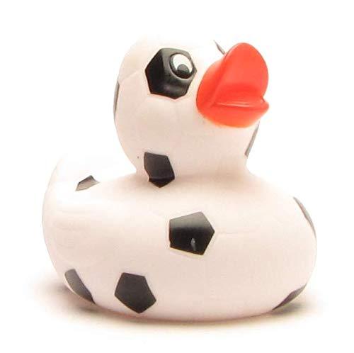 Duckshop I Badeente I Quietscheente I Ente Fußball schwarz
