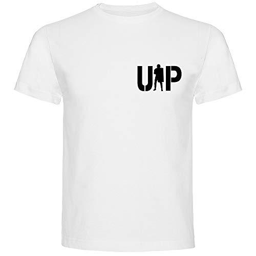 Aircops Camiseta U.I.P. (Unidad de Intervención Policial) de la Policía Nacional (Blanco (Modelo B), L)