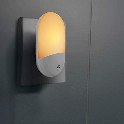 Hogar inteligente dormitorio pasillo inteligente control de luz enchufable luz nocturna luz amarilla regulaciones europeas