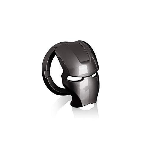 Qirc Iron Man Ein-Key Start Dekorative Aufkleber Taste Abdeckung Zündschalter Schutzhülle Sport Auto Innenraum Starter Ring Universal (Titan Schwarz)