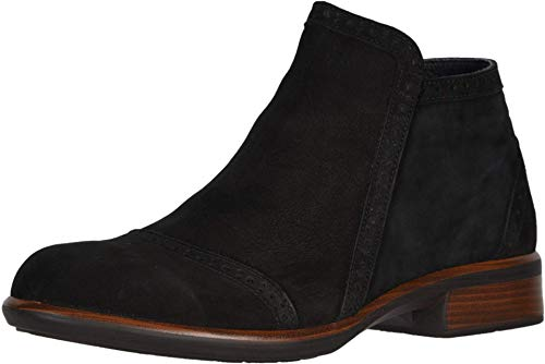 NAOT Women's Nefasi Ankle Boot Black Velvet Nubuck 6 M US