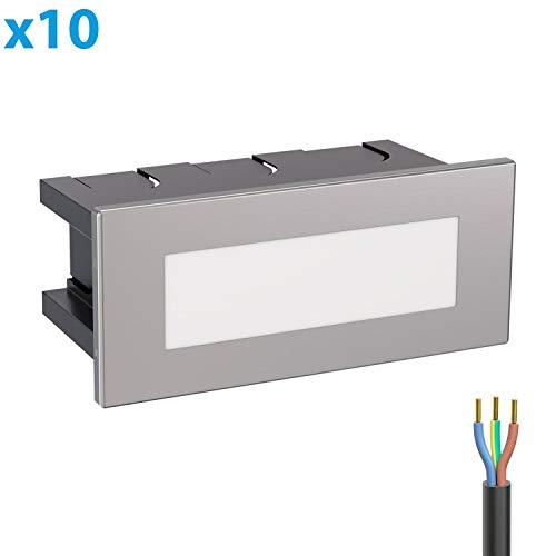 ledscom.de LED lámpara de Escalera lámpara empotrable en