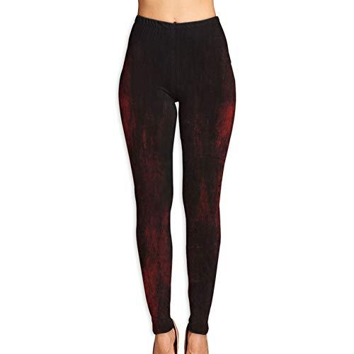DmiGo Mallas Pantalones Deportivos Leggings,Fondo Abstracto Grunge Rojo Oscuro 3D,Mujer Pantalones de Yoga de Alta Cintura Elásticos para Yoga Running Fitness y Pilates XL