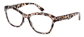 Ladies Fashion Trendy Tortoise Shell Cat Eye Readers Quality Frame Spring Hinge Lightweight Readers for Women 39415S-225-1 BRNDEMI