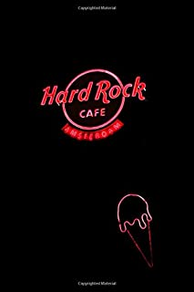 Hard Rock Cafe Amsterdam: Neon Sign Aesthetic BLANK COMPOSITION Notebook Tumblr Instagram E-Girl Goth Punk Therapy Notes Log Calming Psychology ... Notebook 100 pages, 200 pages Paperback