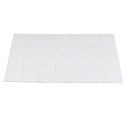 10Pcs 3D Ziegel Tapete Selbstklebend DIY Wandpaneele, Vintage Brick Wallpaper Steinoptik Wandaufkleber für Badezimmer, Küchen (70x77cm)