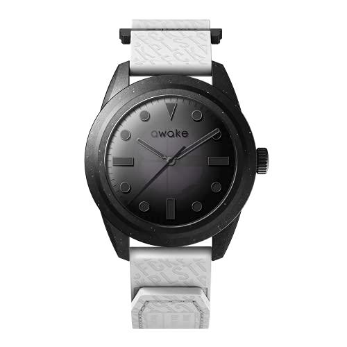 AWAKE ELT01 - Reloj solar para hombre, fabricado a partir de red de pesca reciclada, impermeable, 50 m, marca francesa, solo 29 gramos