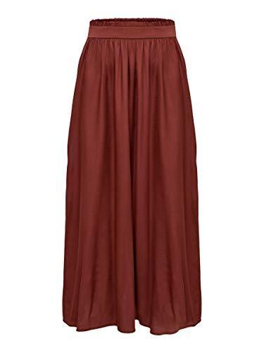 Only Onlvenedig Paperbag Long Skirt Wvn Noos Falda, Rojo (Henna Henna), 36 (Talla del Fabricante: X-Small) para Mujer