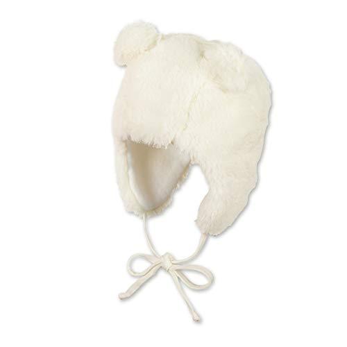 Sterntaler Inka-Mütze für Mädchen mit abstehenden Bären-Öhrchen, Gefüttert, Alter: 9-12 Monate, Größe: 47, Beige (Ecru)